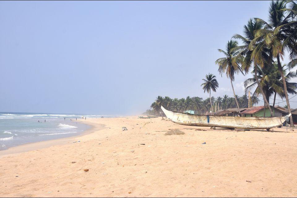 Les côtes, Plage d'Assinie, Côte d'Ivoire, Afrique