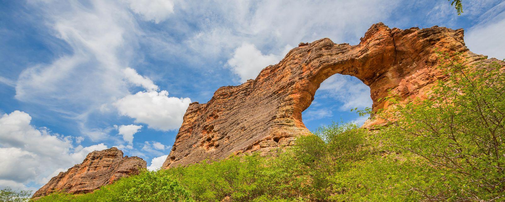 Le parc national de la Serra da Capivara , Brésil