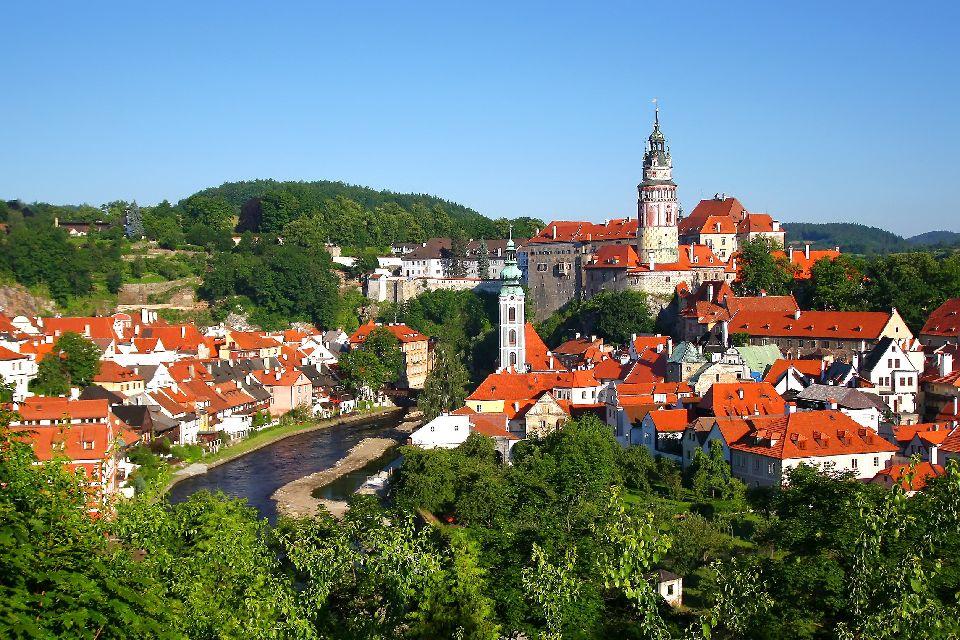 La ville médiévale de Cesky Krumlov , République tchèque