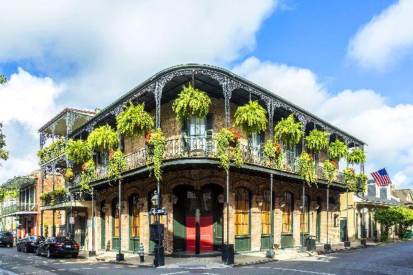 Le vieux carré français de la Nouvelle Orléans , Etats-Unis