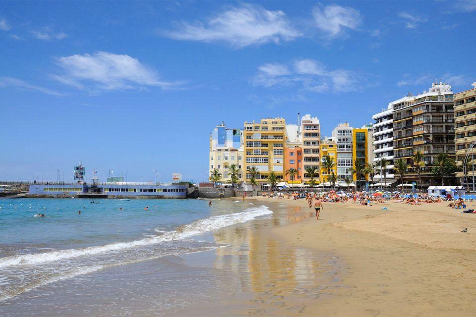 Gran Canaria , plage de Las Canteras. , Espagne