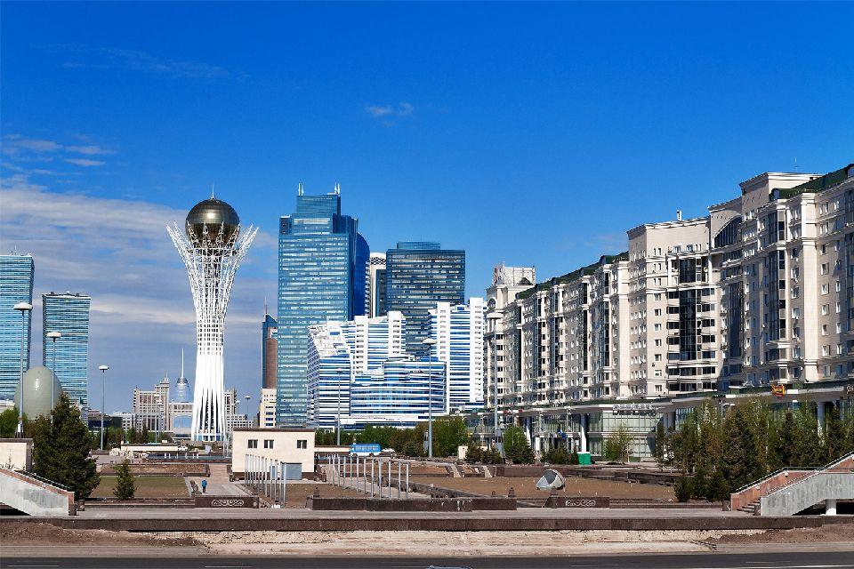 Le Bayterek à Astana , Kazakhstan