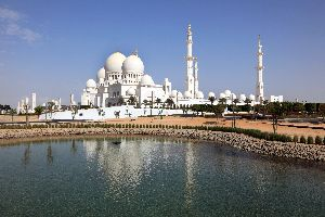 La Grande Mosquée Sheikh Zayed à Abu Dhabi , Emirats Arabes Unis