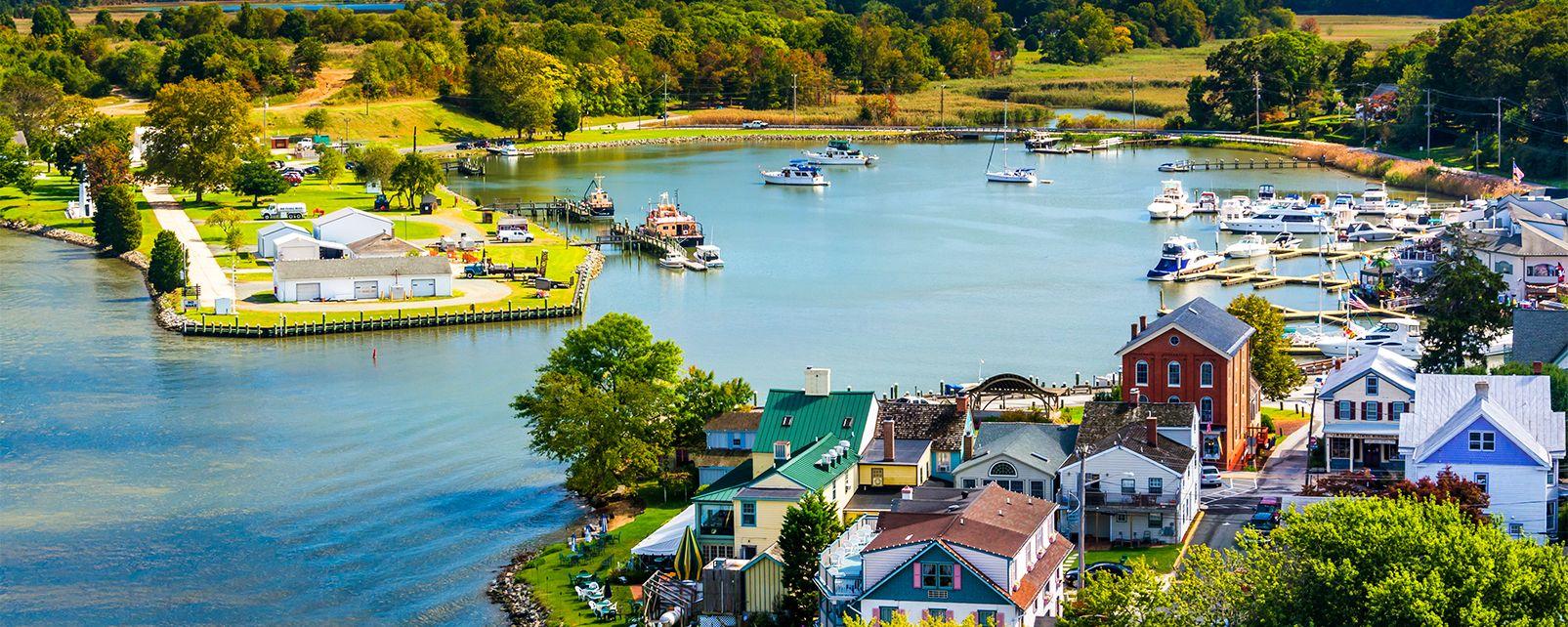 La baie de Chesapeake , Etats-Unis