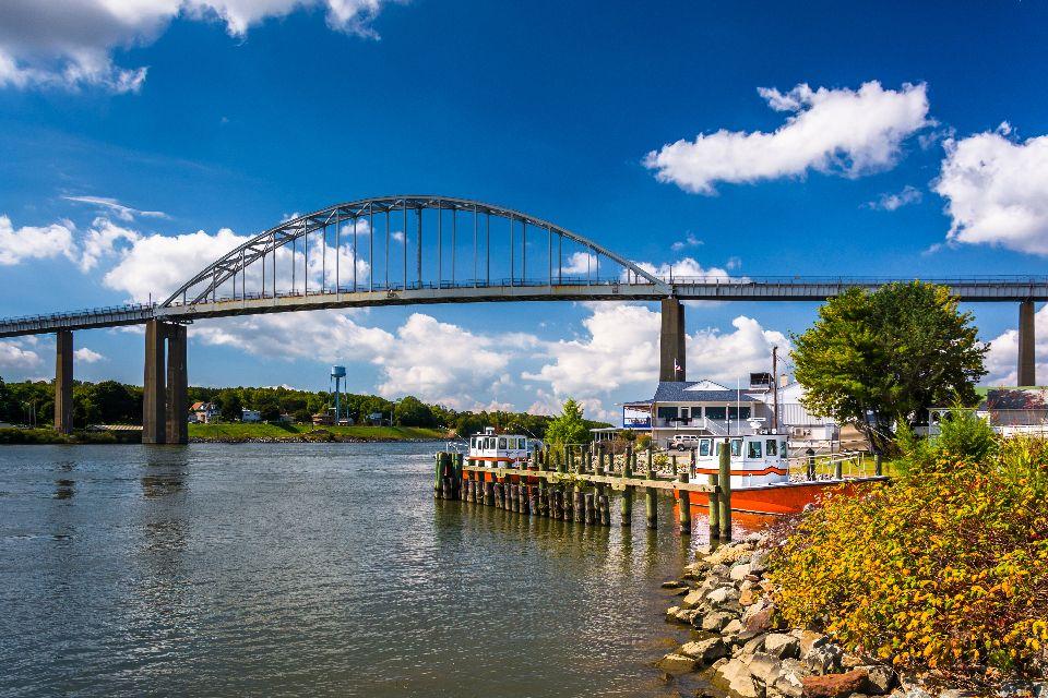 La baie de Chesapeake , A cheval entre deux Etats , Etats-Unis