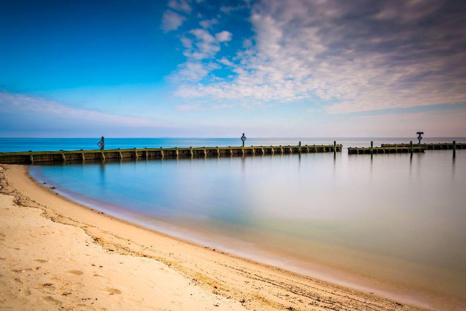 La baie de Chesapeake , Les rivages de la baie , Etats-Unis