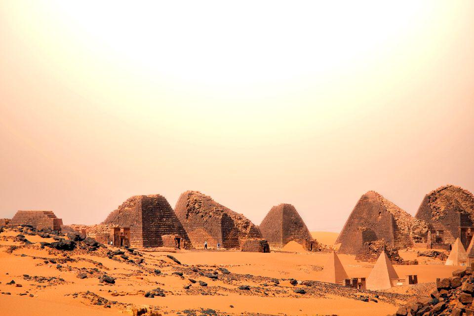 Le site archéologique de l'île de Méroé , Soudan