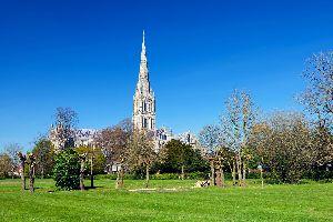 La cathédrale de Salisbury , Royaume-Uni