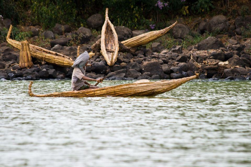 Le lac Tana , Ethiopie