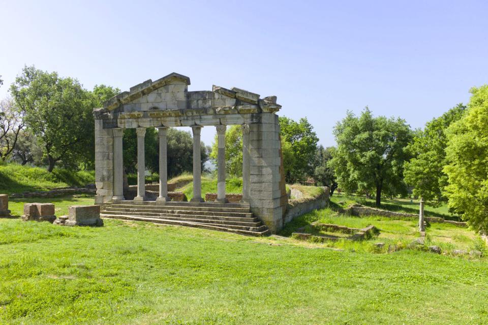La zona antica di Apollonia. , Apollonia, Albania , Albania