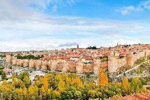 Les murailles d'Avila , Espagne
