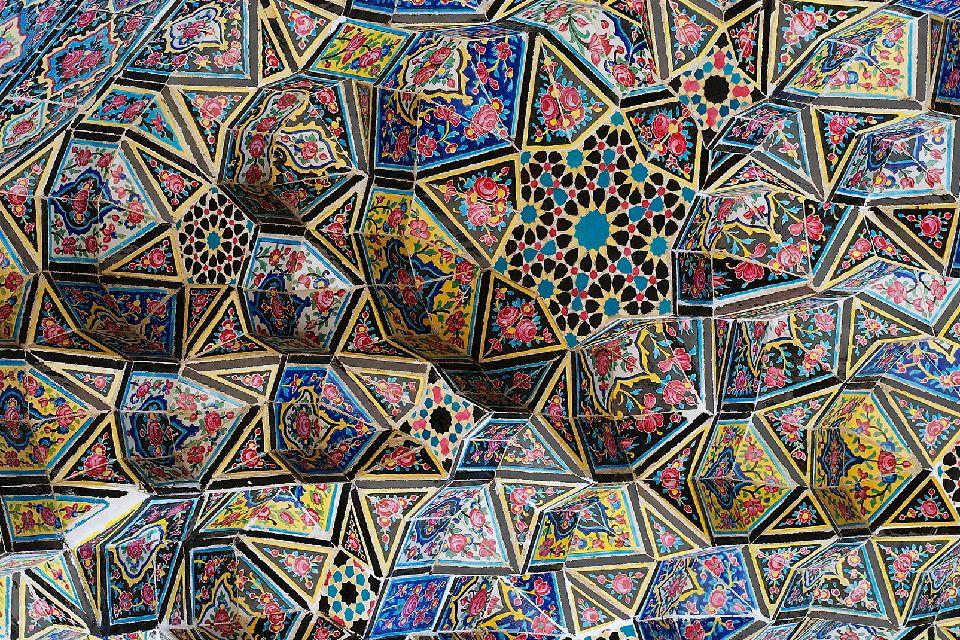La mosquée Nasir-ol-Molk , Iran
