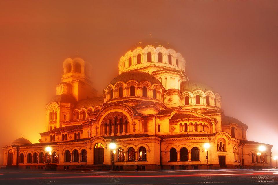 La cathédrale Alexandre-Nevski à Sofia , Bulgarie