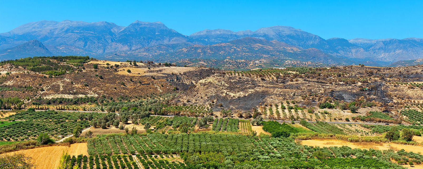 The limestone cliffs, The chalky mountains, Landscapes, Crete