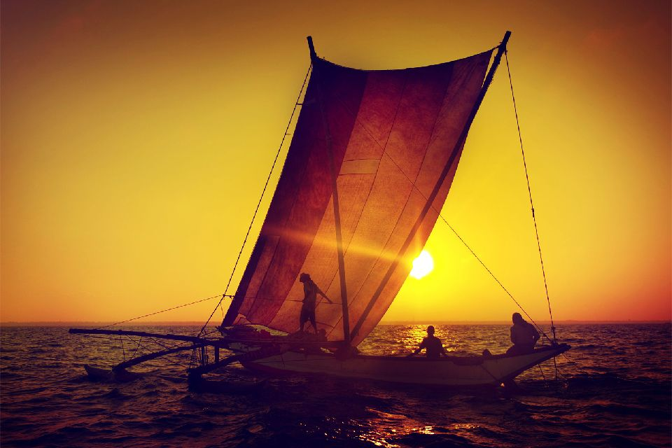 Les pêcheurs de Galle , Sri Lanka