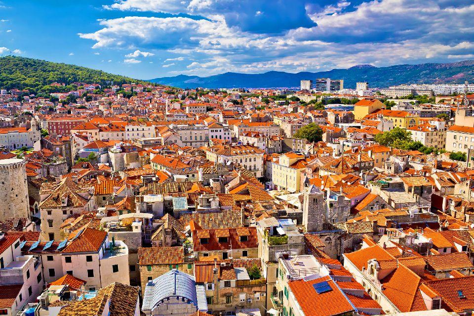 La ville médiévale de Split , Croatie