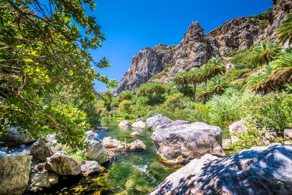 Spazierfahrten auf dem Wasser, Trekking-Strecken, Die Landschaften, Kreta
