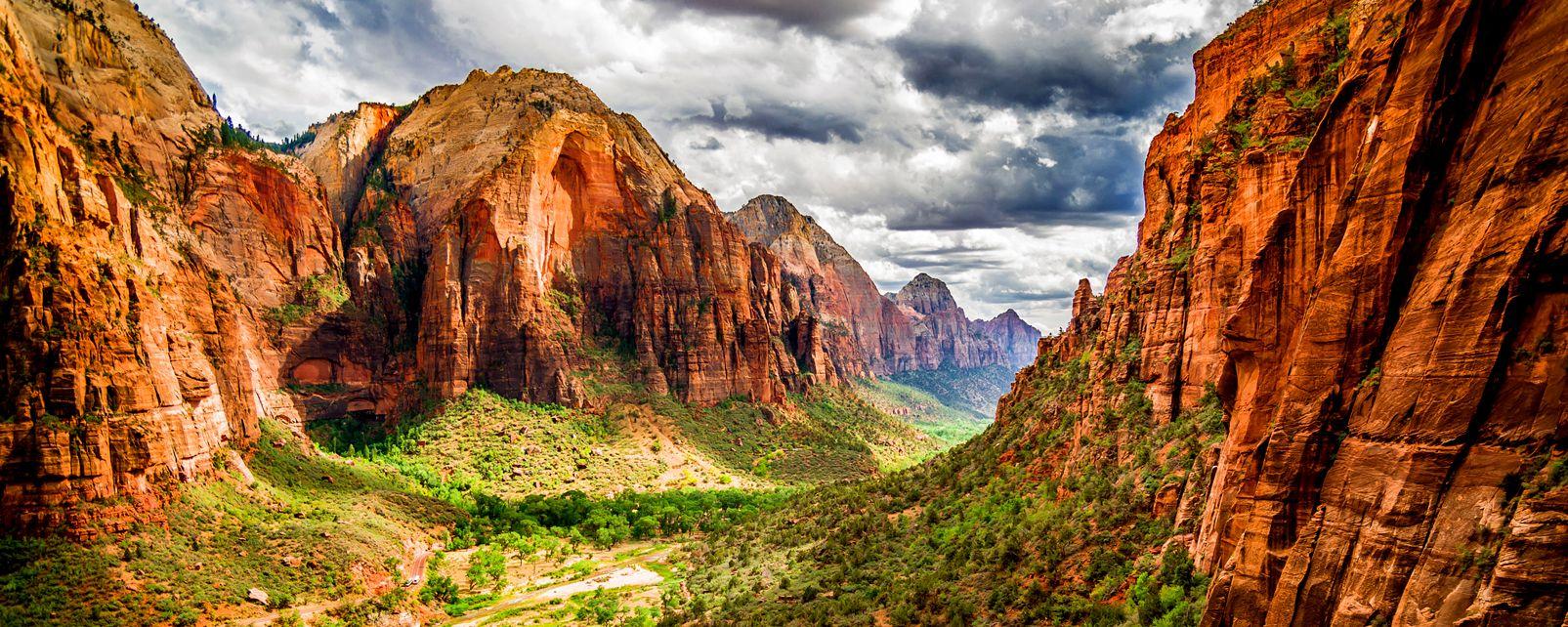 Le parc national de Zion , Etats-Unis
