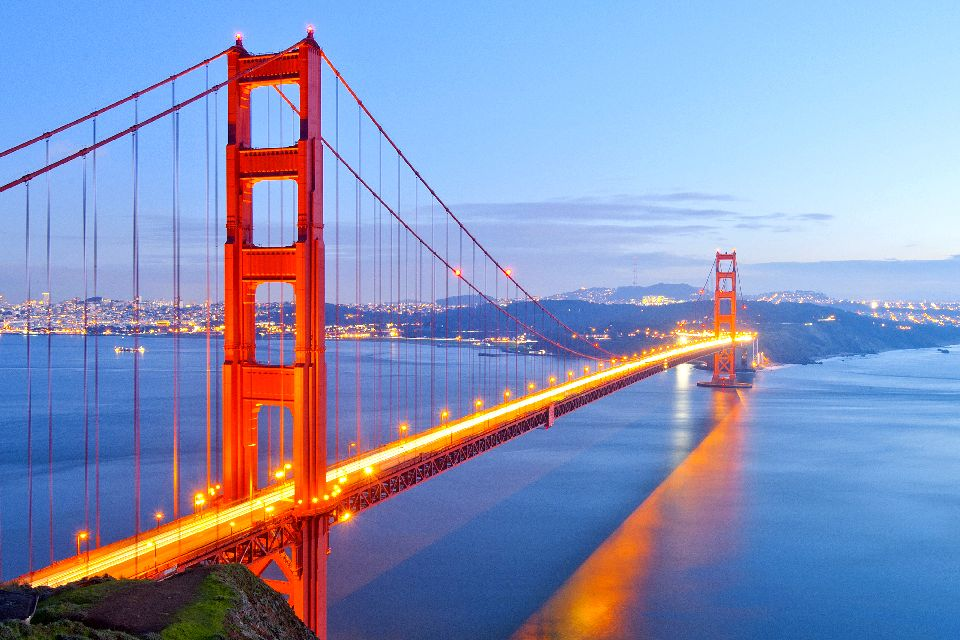 Le Golden Gate , Plus long pont du monde , Etats-Unis