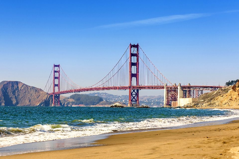 Le Golden Gate , Le Golden Gate depuis Baker Beach , Etats-Unis