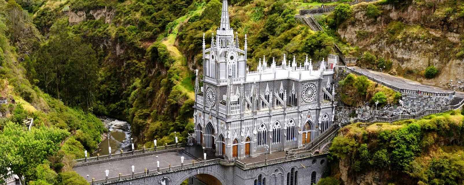 Le sanctuaire de Las Lajas , Colombie