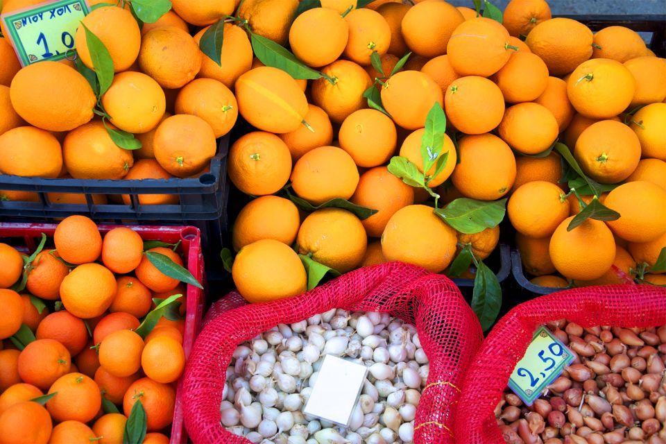 Venditore di frutta, Creta, Le pianure fertili, I paesaggi, Creta
