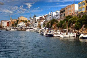 La vieille ville de Ciutadella , Espagne