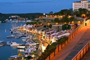La vieille ville de Mahon , Espagne