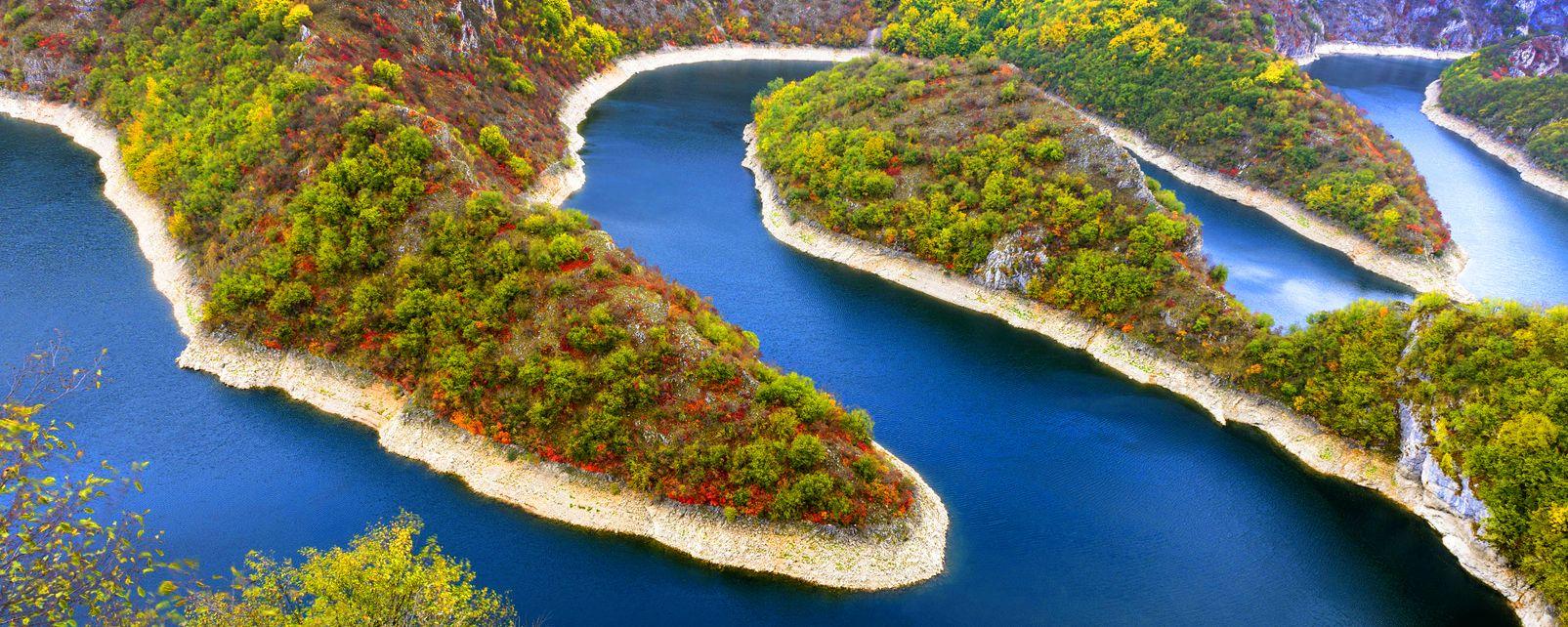Les gorges de l'Uvac , Serbie