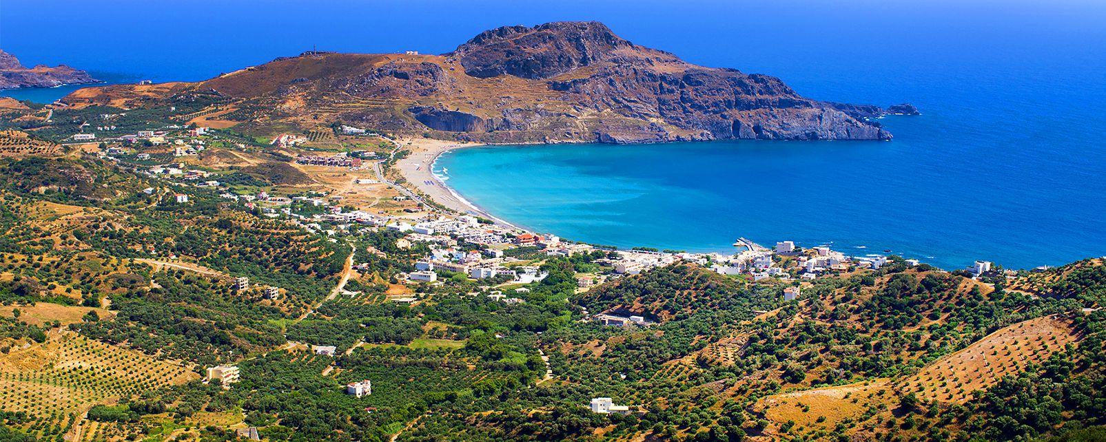 La costa sur, Las costas, Creta
