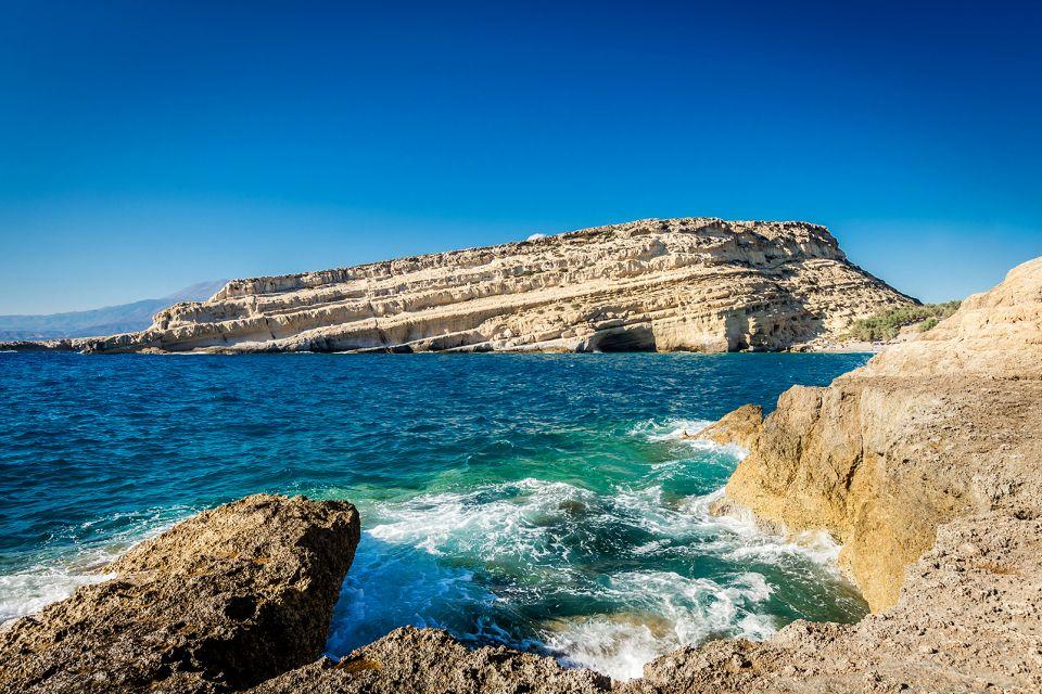 La costa di Matala, La costa meridionale, Le rive, Creta