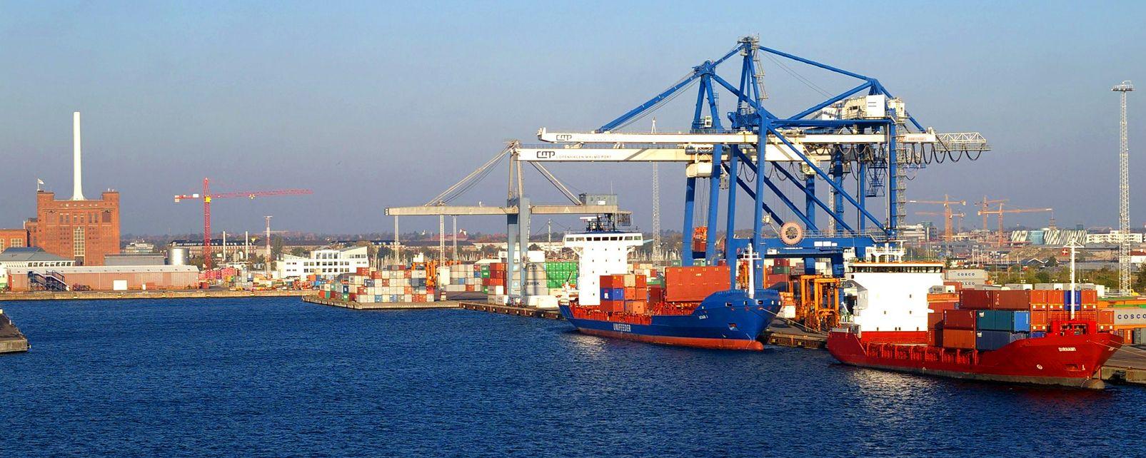 Le port de Copenhague , Danemark