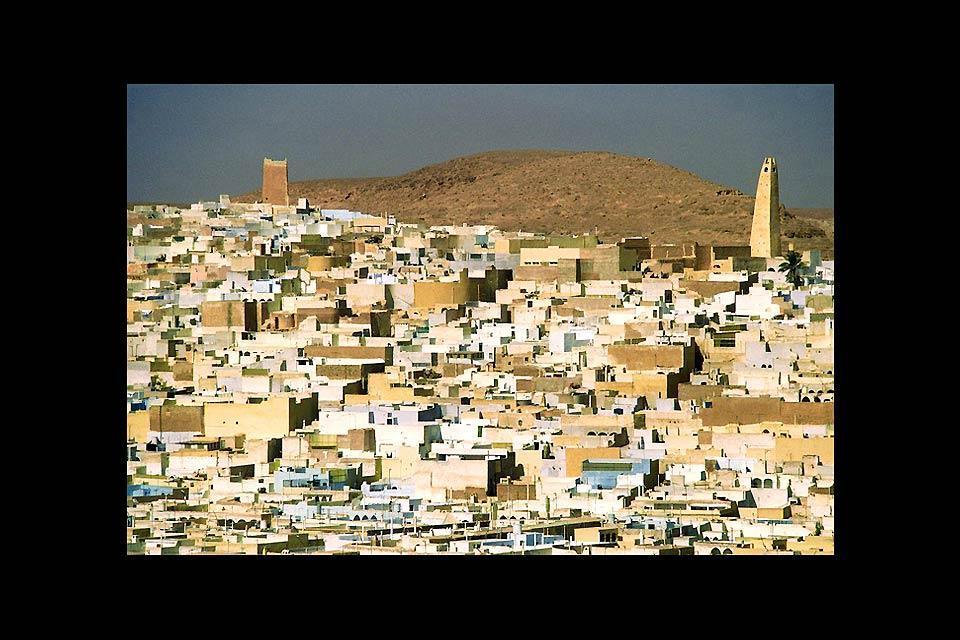 El M'Zab , Vistas sobre la ciudad de Ghardaïa , Argelia
