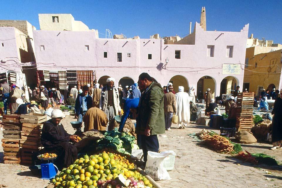 El M'Zab , Mercado de Ghardaïa , Argelia