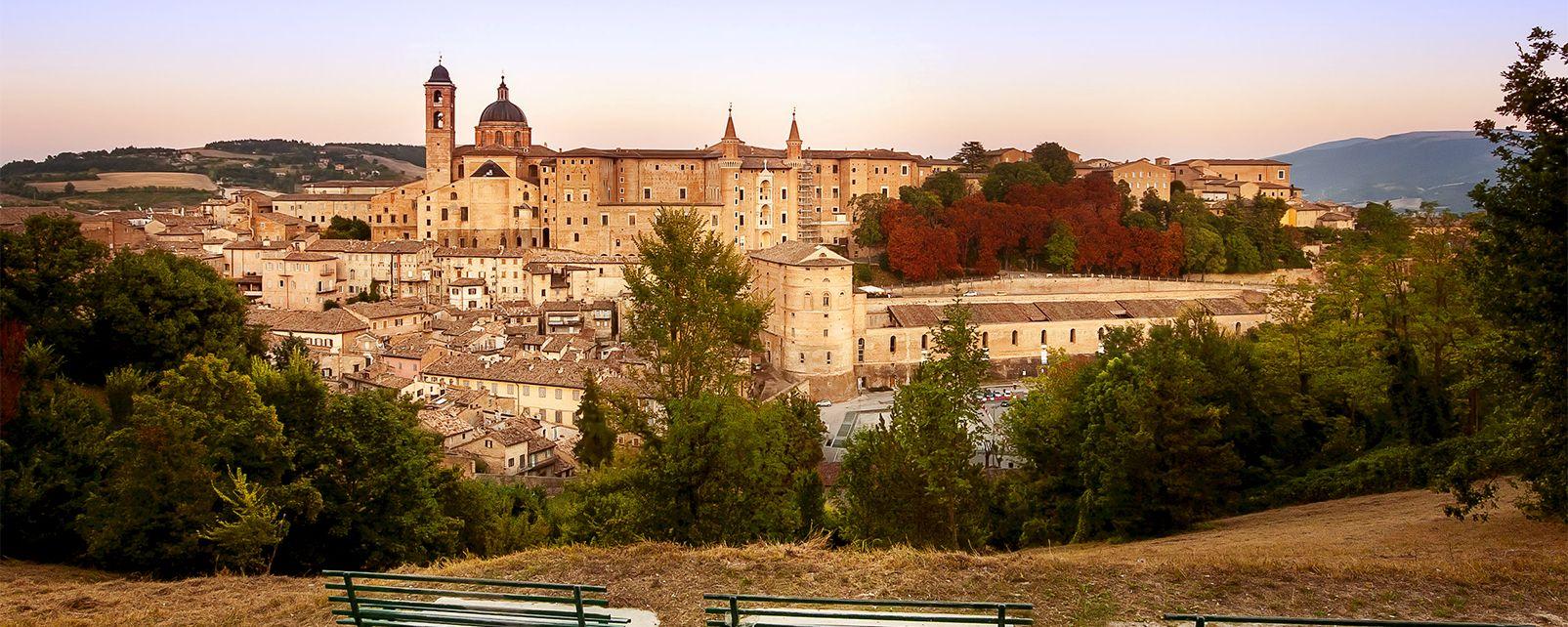 Europe, Italie, Marches, Urbino, centre historique d'Urbino, palais, ville,