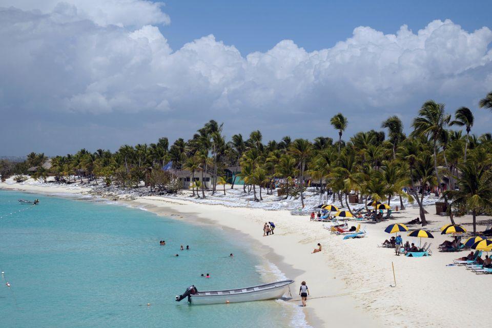 Les îles et les plages, ile, catalina, mer, plage, palmier, republique, dominicaine, caraibe, amérique, antilles, hispaniola, romana