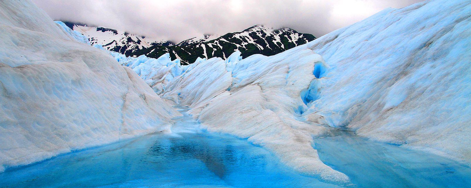 Mendenhall, Glacier, Juneau, Alaska, USA, etats-unis, glace, grotte