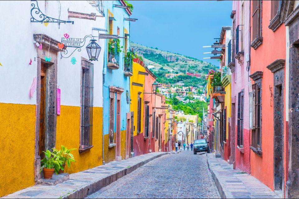San Miguel de Allende, Mexique, Amérique, centre, baroque, ruelle, maisons,