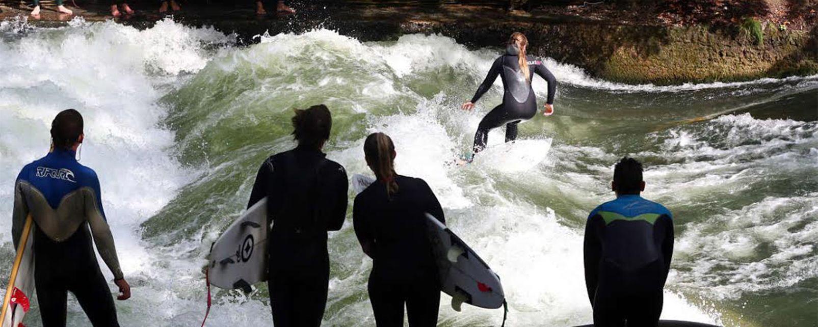 surf au jardin anglais de munich allemagne