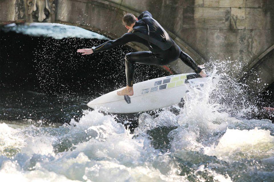 munich, allemagne, surfer, surf, sport
