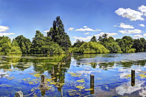 Les parcs naturels et jardins, Royaume-Uni Angleterre Londres jardin Kensington Hyde park parc bassin