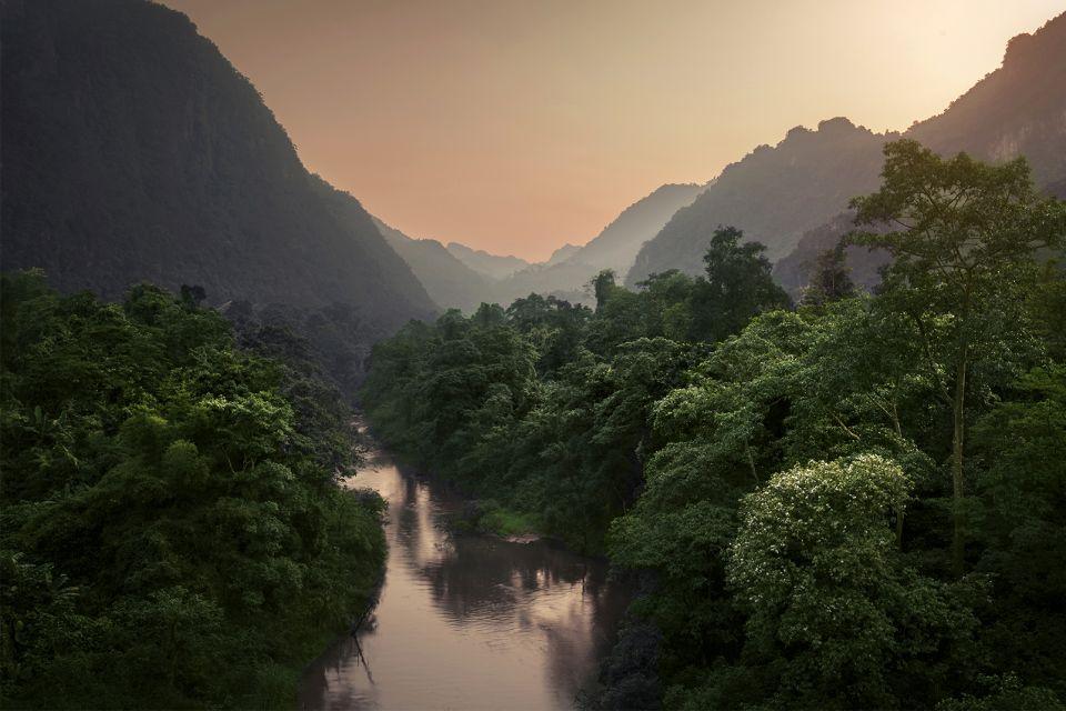 Asie, Vietnam, Parc national de Phong Nha, Ke Bang, flore, montagne, lac, verdure,