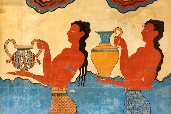 The frescoes, Elefterna, Monuments, Crete