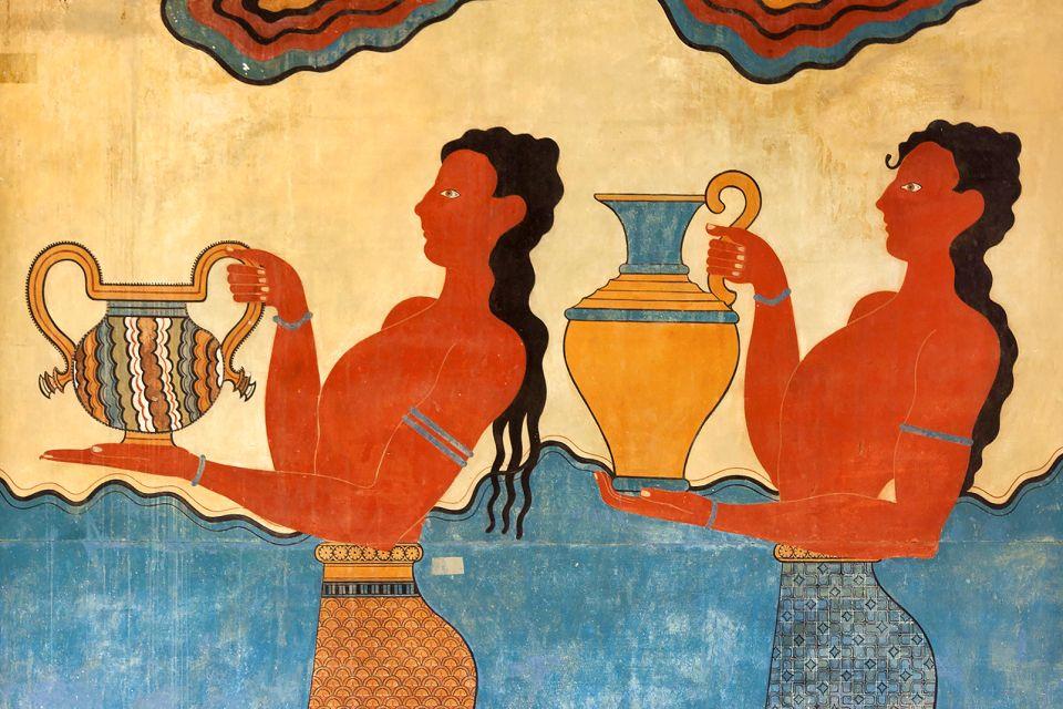 Les fresques, Knossos, Les monuments, Crète