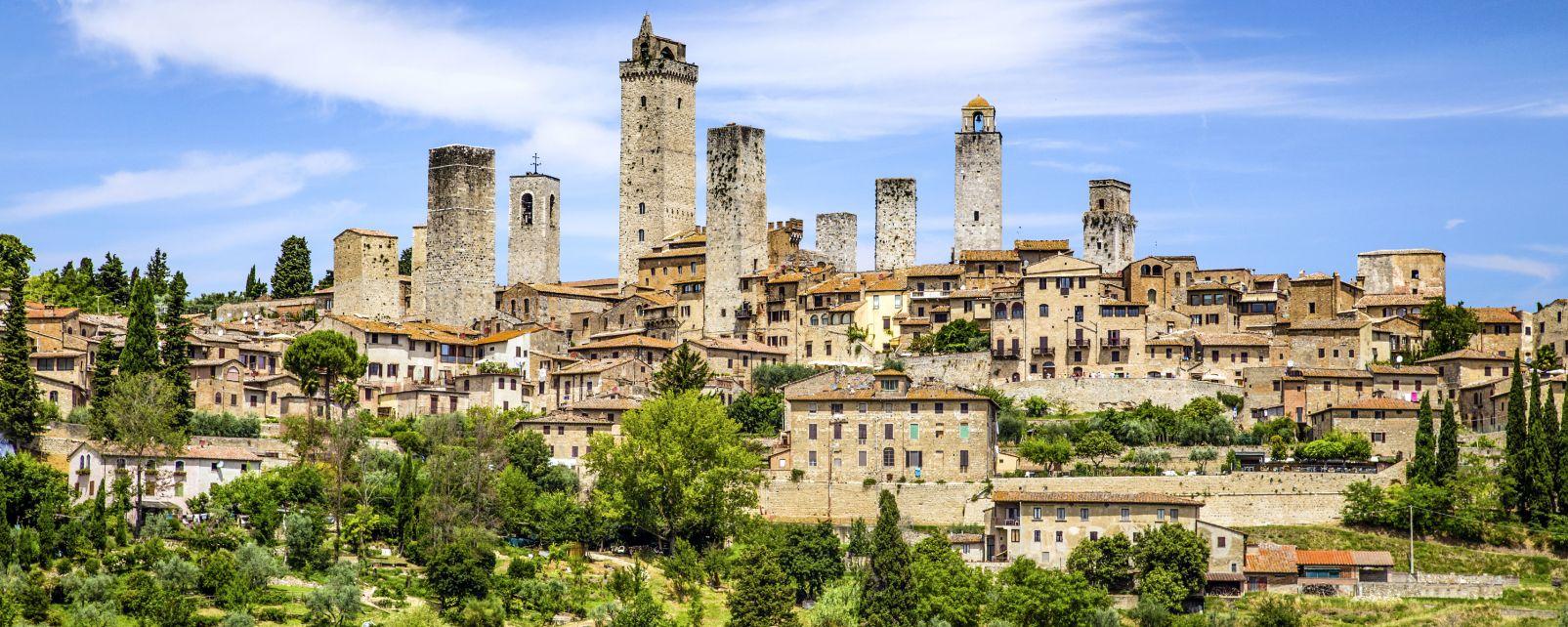 Les monuments, San Gimignano Sienne Toscane Italie tour