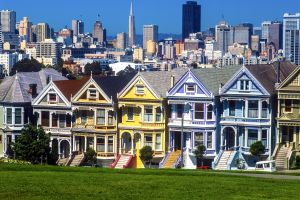 Les arts et la culture, Alamo Square maison habitation USA amérique californie San Francisco victorienne alamo square painted ladies