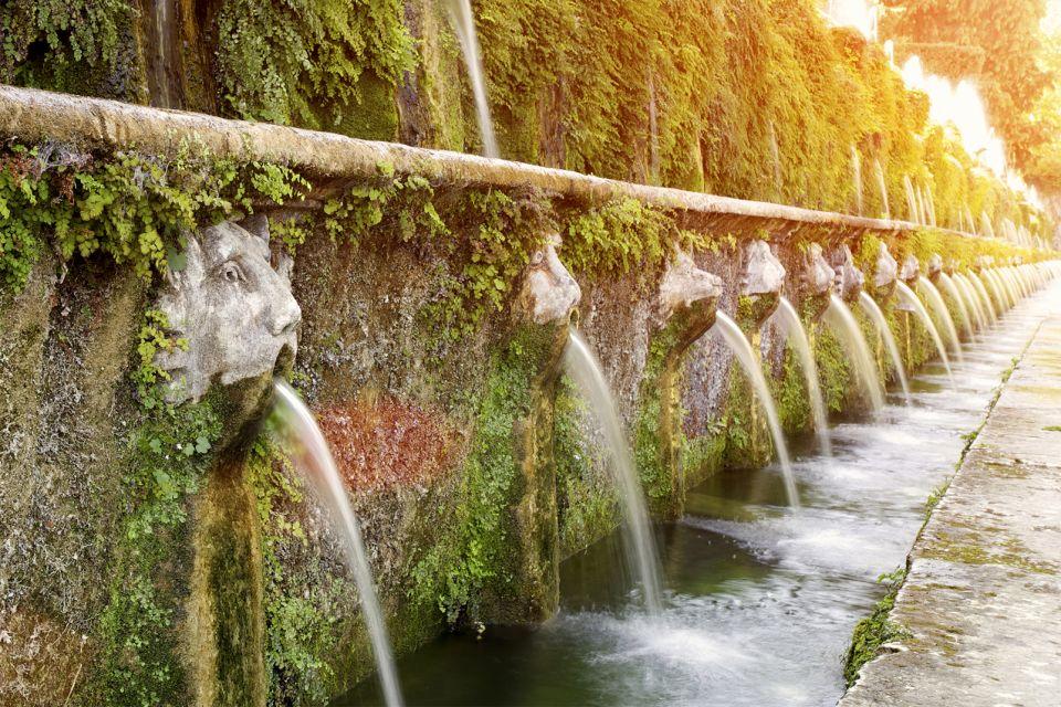 Les monuments, Italie europe villa villa d'este latium fontaine eau tivoli jardin unesco