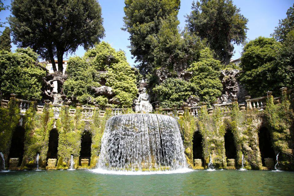 Les monuments, Italie europe villa villa d'este latium fontaine eau Fontana dell'Ovato tivoli unesco