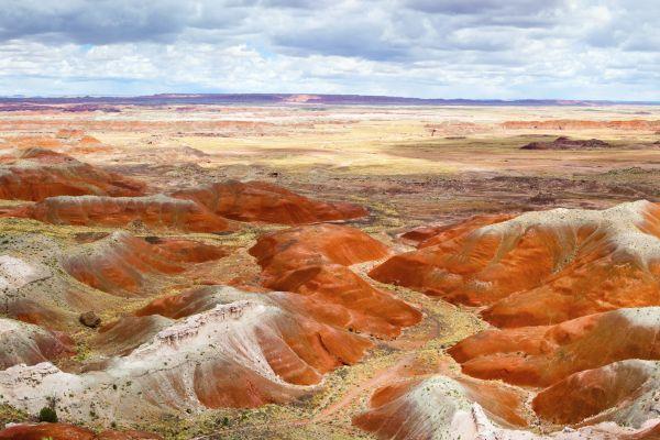 Les paysages, arizona, grès, painted hills, peinture, montagne, paysage, etats-unis, USA, amérique.