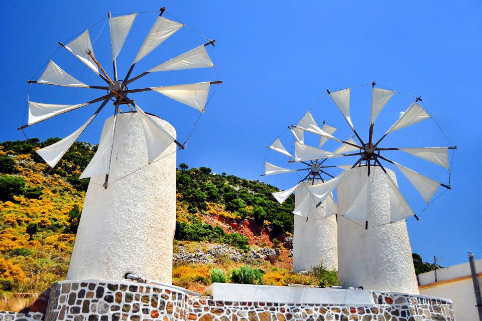 The windmills, The archaeological sites of the Lassithi plateau, Monuments, Crete